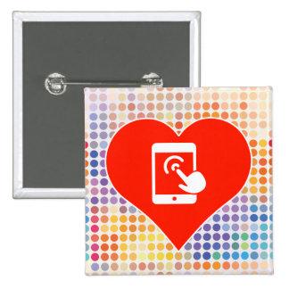 Phone Icon 2 Inch Square Button