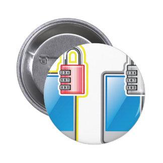 Phone Lock 2 Inch Round Button