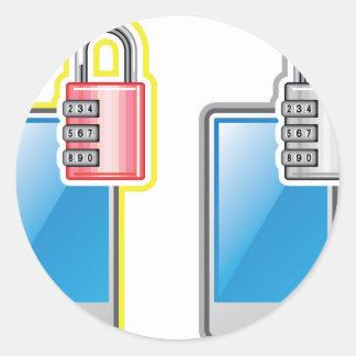 Phone Lock Round Sticker
