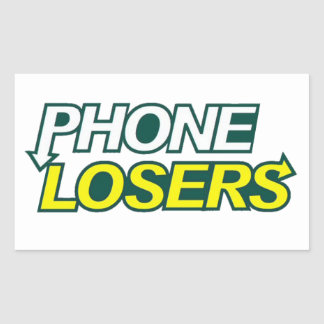 Phone Losers Eat Right Sticker