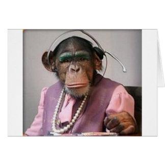 phone monkey greeting card