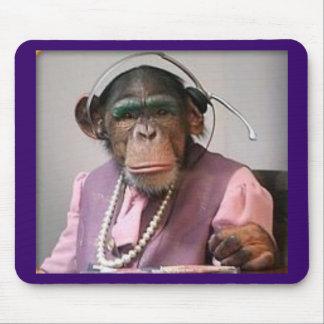 phone monkey mouse pad