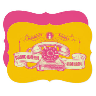 Phone-omenal Birthday Pun Card