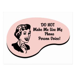 Phone Person Voice Postcard