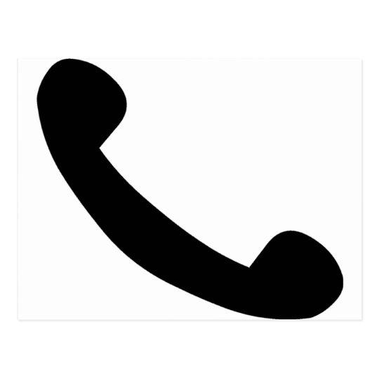 Phone Symbol Postcard