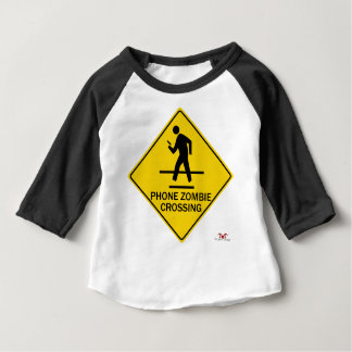 Phone Zombie Crossing Baby T-Shirt