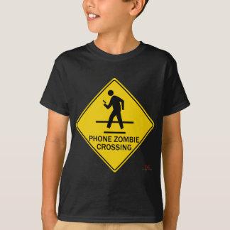 Phone Zombie Crossing T-Shirt