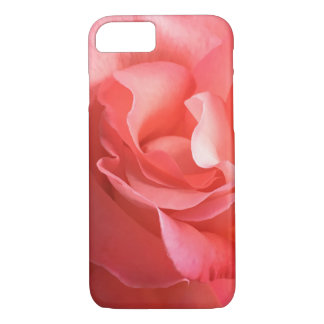 Phonecase a peach/pink rose close-up soft petals iPhone 7 case
