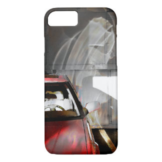 Phonecase watercolor photo red car with reflection iPhone 8/7 case