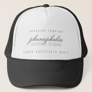 Phonophobia Hurts - Migraine Symptom - Hat