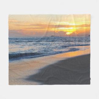 Photo 19 ocean beach sunset fleece blanket