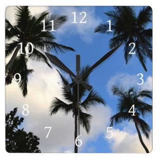Photo 41 Palm Trees Square Wall Clock