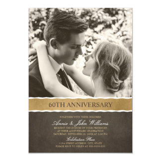 Photo 60th Wedding Anniversary Your Picture Here Card