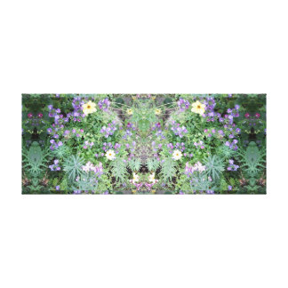 Photo 772 Flower Dapple Mirror Panel Canvas Print