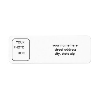 Photo Address Label