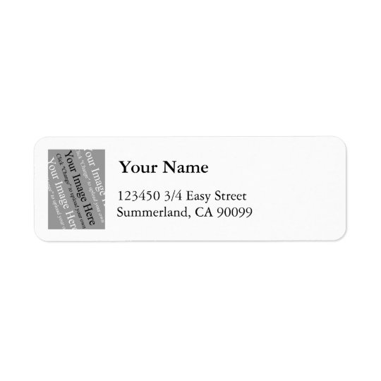 Photo Address Label Template Small