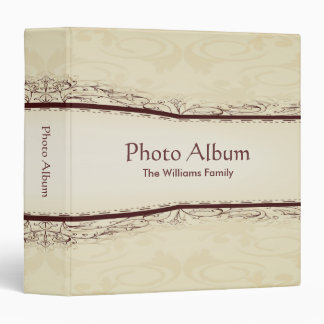 Photo Album Elegant Scroll Pattern Vinyl Binders