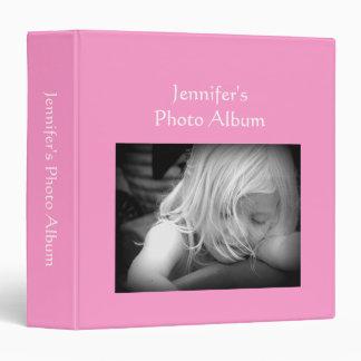 Photo Album rose pink custom name photo binder