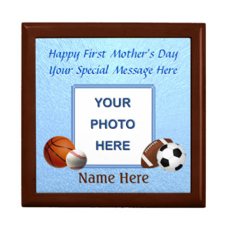 Photo and Name First Mother's Day Gifts, Jewelry Box
