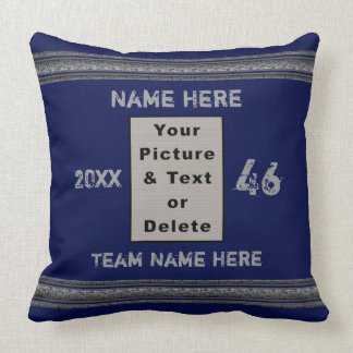 Photo and Personalized Sports Pillows Your Colours