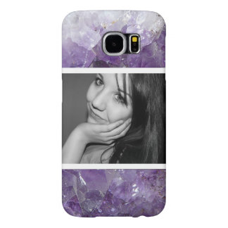 Photo and Pretty Purple Amethyst Crystals Samsung Galaxy S6 Cases