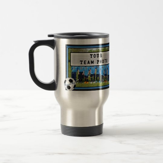 PHOTO and YOUR TEXT Soccer Coach Gift Ideas Mugs