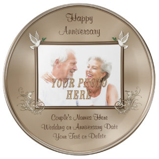 Photo Anniversary gifts Number of YEARS, YOUR TEXT Plate