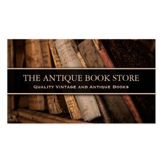 Photo antique/vintage de librairie - carte de carte de visite standard