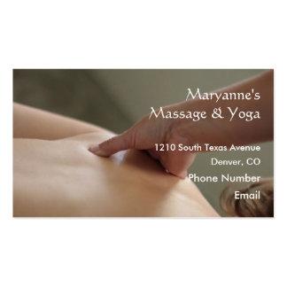 Photo arrière de massage - pouce cartes de visite professionnelles