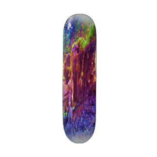 Photo art of fallen tree custom skateboard