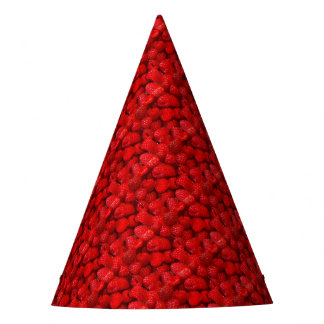 Photo Art Raspberries Party Hat