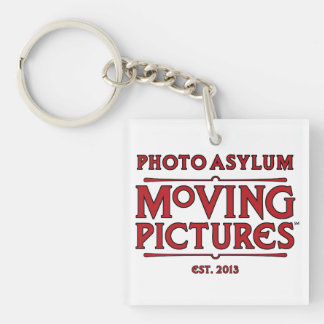 Photo Asylum Moving Pictures Square Key Chain