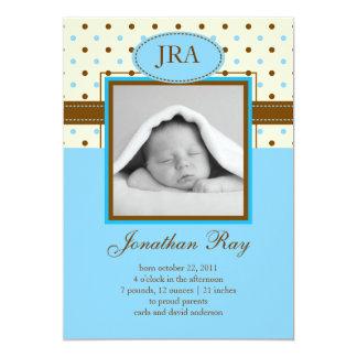 Photo Baby Boy Birth Announcement