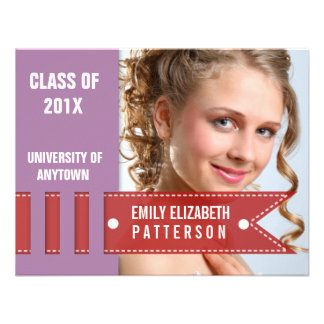 Photo Banner Graduation Custom Announcements