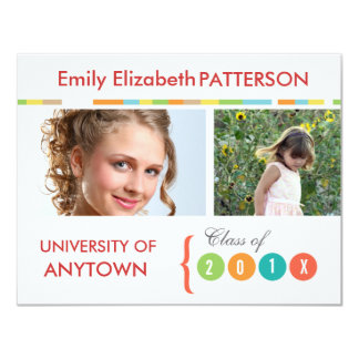 Photo Banner Graduation Custom Invites
