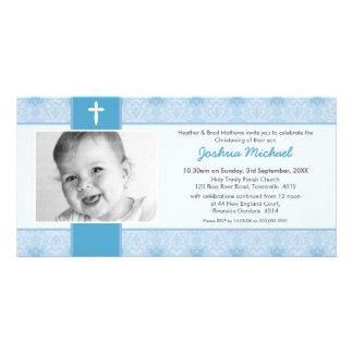 PHOTO BAPTISM INVITATIONS :: pretty 1L Personalized Photo Card