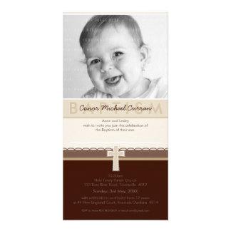 PHOTO BAPTISM INVITATIONS pure 7 Photo Card