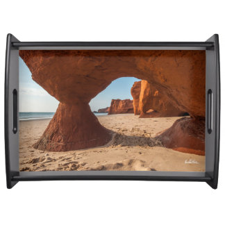 photo beach and courses serving tray