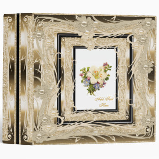 Photo Binder Vintage Elegant Gold Floral