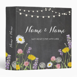 Photo Binder Wedding Scrapbook Wild Flowers