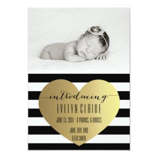 Photo Birth Announcement - Baby Girl