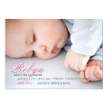 "Photo Birth Announcement | Name Photo 5"" X 7"" Invitation Card"
