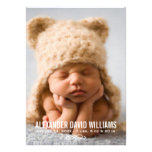 Photo Birth Announcement | Simple Elegance Personalized Invitation