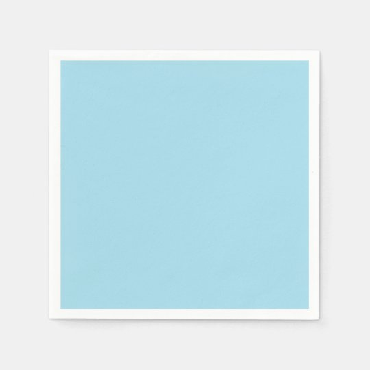 Photo Blue Simple Colourful Paper Napkin