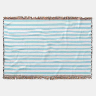 Photo Blue Stripes Throw Blanket