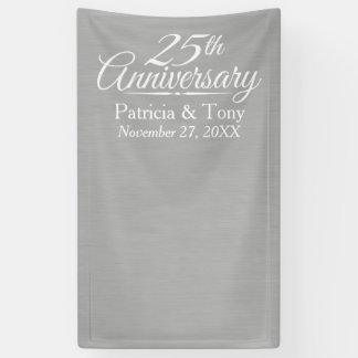 Photo Booth Backdrop - 25th Wedding Anniversary Banner