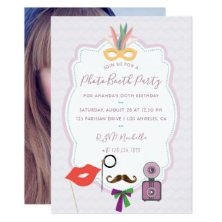 Photo Booth Party Invitation