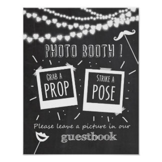 Photo booth wedding guestbook sign chalkboard