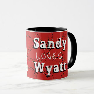 Photo Boyfriend / Girlfriend Red Photo Mug