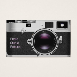 Photo Camera Business Card